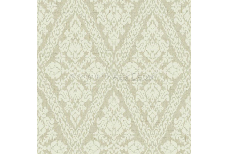 Papel de Parede Stockbridge Square Arabescos YW1449 Bege Off White