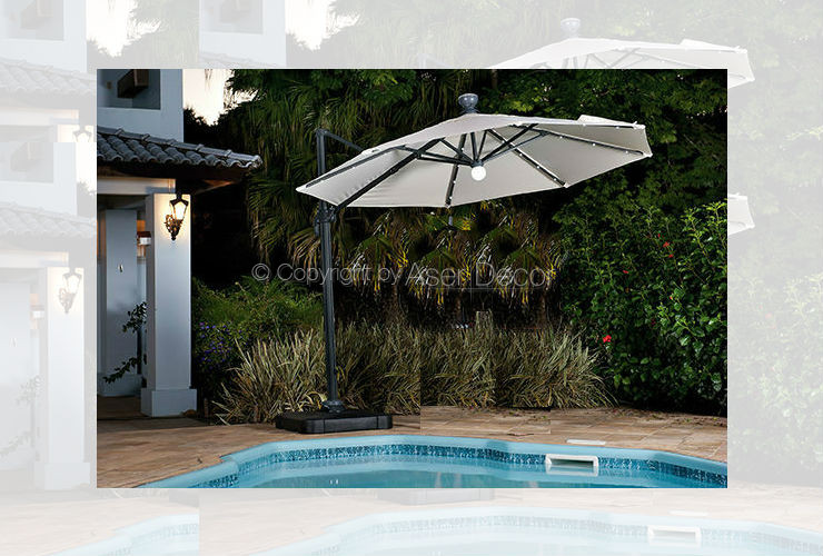 Ombrelone Lampth Piscina Lateral Redondo Bege 3 m