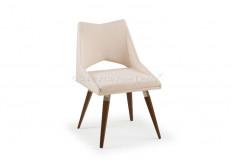 Cadeira Cadarfian Inox Design Veludo Creme Sala