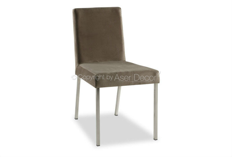 Cadeira Abbytare Designer Suede Marrom Sala