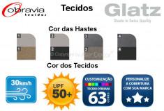 Ombrelone AG19 Sunwing Redondo 3,3m Alumínio Bege Proteção Solar