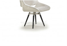 Cadeira Amkiarat Giratória Design Veludo Off White Sala