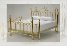 Cabeceira Comnio Contornos Metal Dourado Quarto Casal