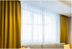 Cortina Amarela Tecido Luxo Sala Tuyfron