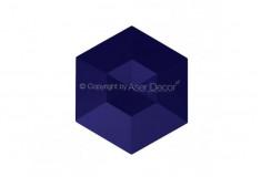 Diamante Manufatti Azul Cobalto 3D Revestimento Acabamento Fino