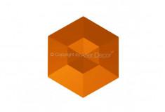 Manufatti Diamante Laranja 3D Revestimento Acabamento Fino