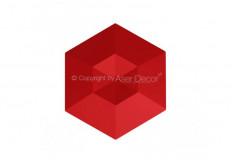 Manufatti Diamante Vermelho 3D Revestimento Acabamento Fino