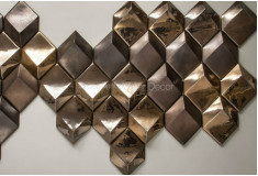 Revestimento Losango Corten 3D Manufatti Acabamentos