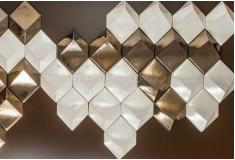 Acabamento Losango Pérola 3D Manufatti Revestimento