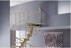 Escada Caracol Jewquin Curvas Moderna Madeira Marrom