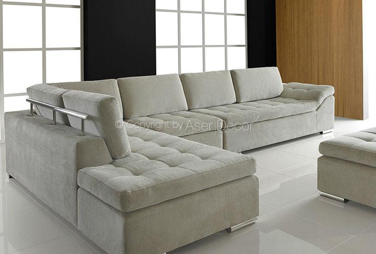 Sofa Adaxus Canto Em L Veludo Bege Sala De Estar 07 740x500 ...