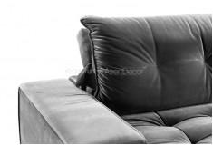 Sofá Retrátil Reclinável Merpe 3 Lugares Veludo Cinza Sala Home