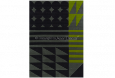 Tapete Trivce Geométrico Alto Relevo Nylon 10mm Verde Cinza Sala