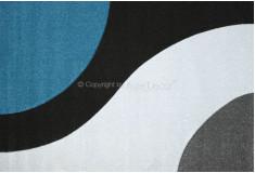Tapete Abstrato Curflow Azul Preto Nylon 10mm Sala Quarto