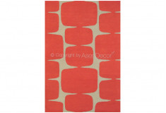 Tapete Abstrato Drinxam Vermelho Branco Nylon 10mm Sala Quarto