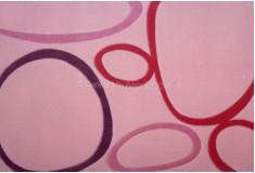 Tapete Abstrato Klibequi Rosa Roxo Nylon 10mm Sala Quarto
