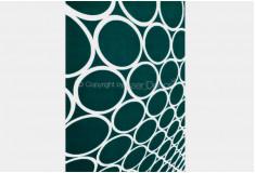 Tapete 3D Bolas Tikland Verde Branco Nylon 10mm Sala Quarto
