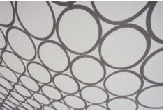 Tapete 3D Bolas Tikland Cinza Nylon 10mm Sala Quarto