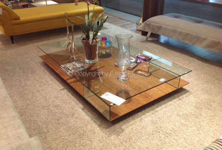 Mesa de centro dopreba madeira luxo retangular sala for Mesa de centro de sala