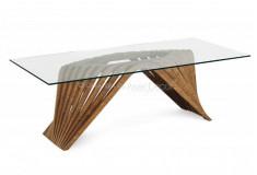 Mesa de Jantar Adfrow Design Luxo Base Moderna Madeira 6 Lugares