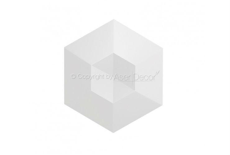 Revestimento Diamante Branco Acetinado 3D Manufatti Acabamentos
