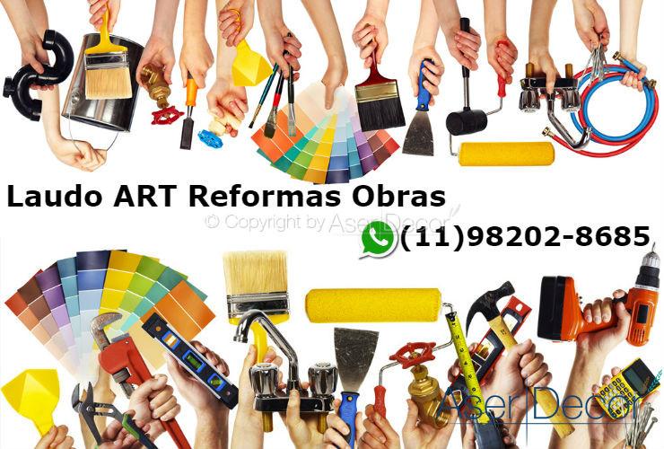 ART Instalação Banheira Documento Reformas Obras
