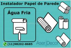 Aplicação Papel de Parede Água Fria