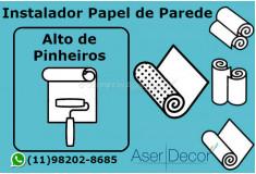 Aplicação Papel de Parede Alto de Pinheiros