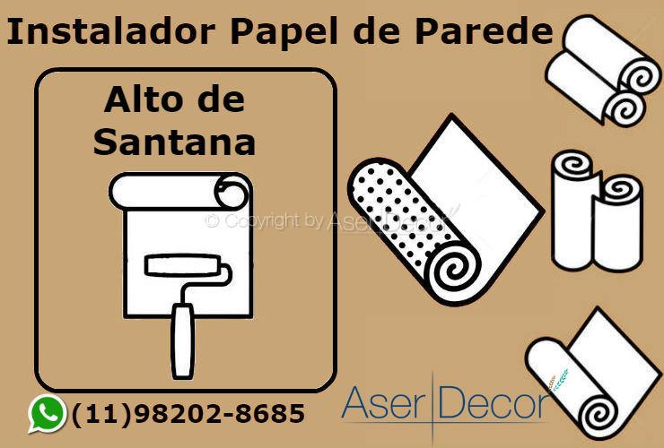Aplicação Papel de Parede Alto de Santana