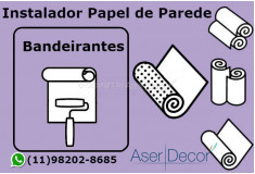 Aplicação Papel de Parede Bandeirantes