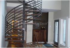 Escada Caracol Cirflev Alto Padrão Metal Cinza