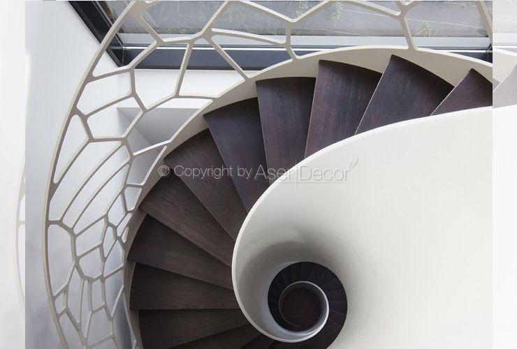 Escada Célula Flexib Design Aço Branco